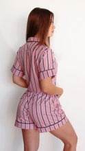 Load image into Gallery viewer, STRIPPED PINK PJ SHORT SET