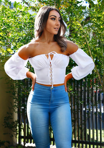 SPRING ROMANCE OFF-THE SHOULDER TOP