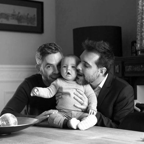 Father's Day gay male couple with baby gift guide blog post by Room 2046 Toronto Canada