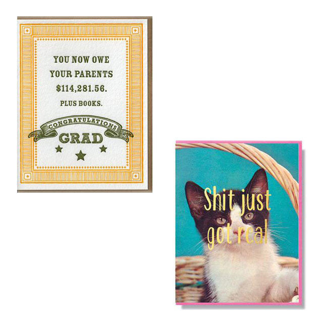 Fun & cheeky graduation cards available from Room 2046 Toronto