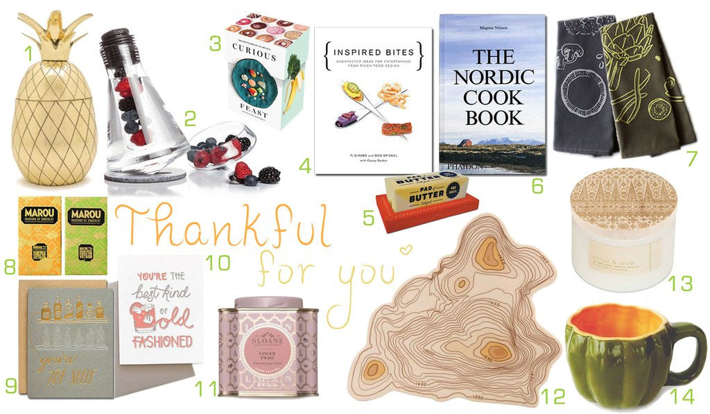 Thankful for You: Thanksgiving Gift Guide 2016