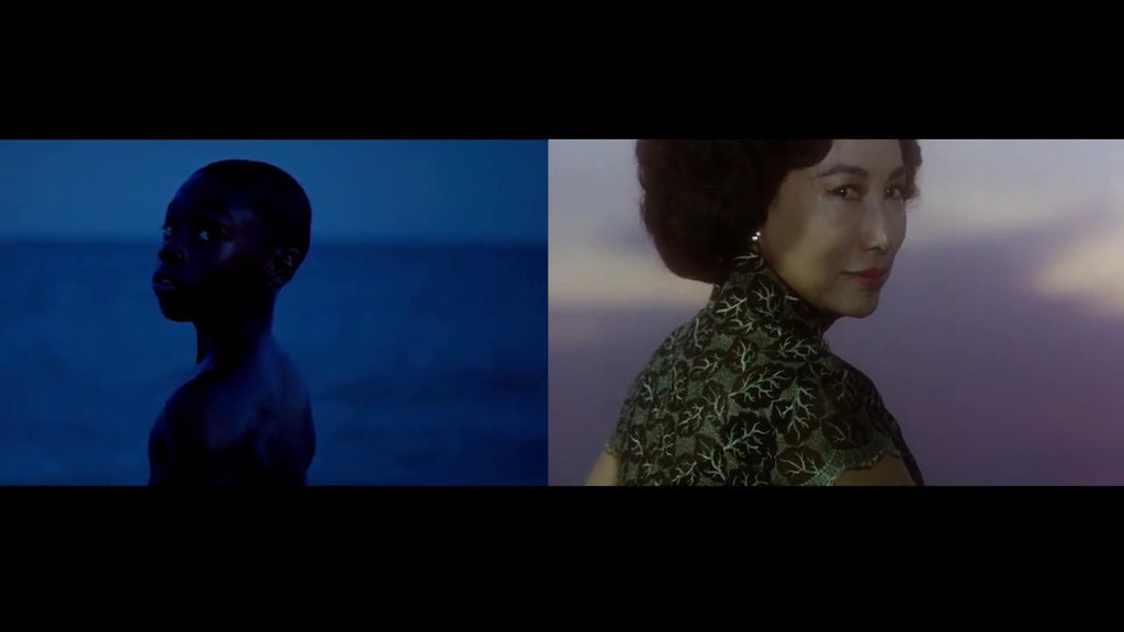 Film stills from Moonlight by Barry Jenkins and Wong Kar-Wai's In the Mood for Love