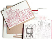 Albertine Press New York City Letterpress Notecards | Room 2046 Toronto Canada