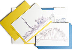 Albertine Press Toronto Sketch Letterpress Notecards | Room 2046 Toronto Canada