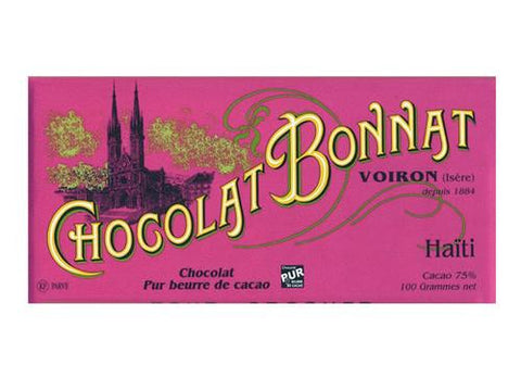 Chocolat Bonnat Haiti Dark Chocolate - 75% available from Room 2046 cafe shop studio Toronto Canada