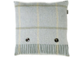 Bronte Windowpane Aqua Shetland Wool Cushion | Room 2046 Toronto Canada