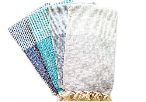 Fine Loom Elmas 450g Cotton Turkish Towel - Biscay Bay available from Room 2046 cafe shop studio Summerhill Toronto Canada