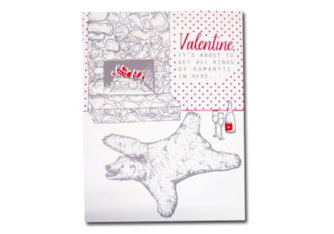 Flakes Paperie Bearskin Rug Valentine Love Card | Room 2046 Toronto Canada