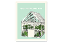 Flakes Paperie Green House Thank You Card available from Room 2046 cafe shop studio Toronto Canada
