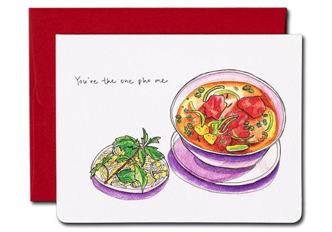 Gotamago You're The One Pho Me Greeting Card | Room 2046 Toronto Canada