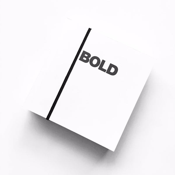 Be Bold for Change! Bold Notebook by Poketo