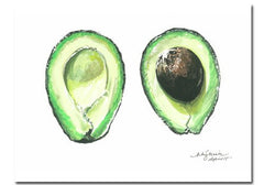 Niki Kingsmill Avocado Watercolour Print - 11x14 available from Room 2046 cafe shop studio Toronto Canada