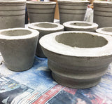 In the Room 2046 Studio: Concrete planters