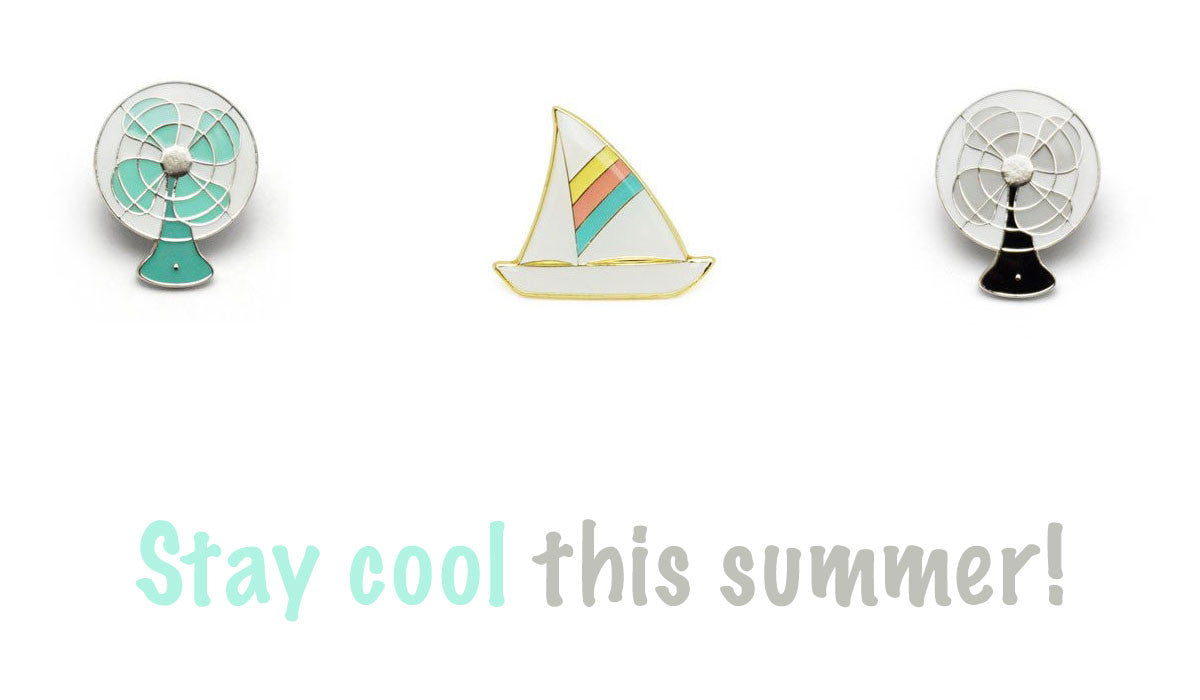 Stay cool this summer with fun enamel pins by Lucky Horse Press