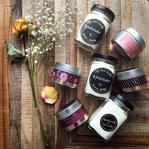 Ever wanted to capture the smell of rain in a jar? Look no further. Launching our collection of handcrafted soy wax candles | @room2046toronto Instagram