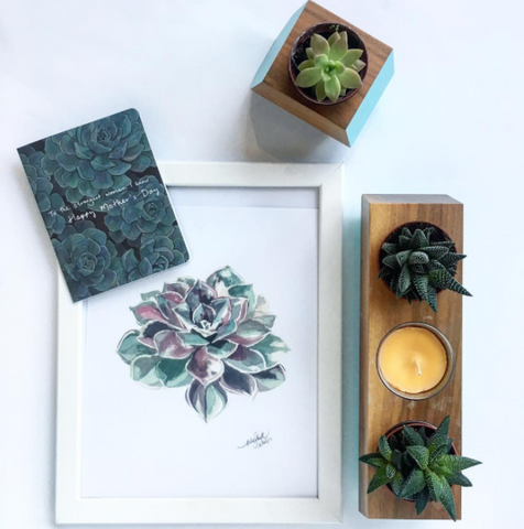 Mini succulent boxcar planter set available from Room 2046 Toronto Canada