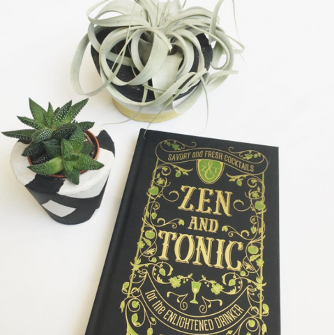 Zen and Tonic cocktail recipe book by Jules Aron Instagram available from Room 2046 cafe shop studio Toronto Canada