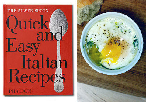 Baked Eggs with Leek Recipe from Quick and Easy Italian Recipes by The Silver Spoon | Room 2046 Toronto Canada