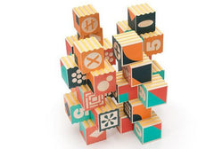 Uncle Goose Groovie Math and Patterning Blocks available from Room 2046 cafe shop studio Toronto Canada