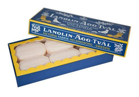 Victoria Lanolin-Agg-Tval Swedish Eggwhite Facial Soap Set of 6 | Room 2046 Toronto Canada