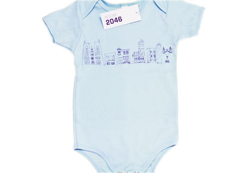 Room 2046 Weekdays Baby Blue One-Piece 6-12 Months