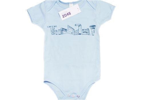 Room 2046 Weekdays Baby Blue One-Piece Set