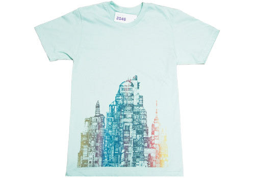 Room 2046 Flo City Mint Metallic T-Shirt