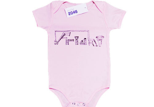 Room 2046 Weekdays Baby Pink One-Piece 12-18 Months