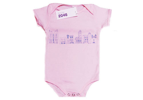 Room 2046 Weekdays Baby Pink One-Piece Set