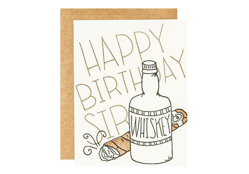 9th Letter Press Mr. Whiskey Birthday Greeting Card | Room 2046 Toronto Canada