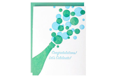 A Favorite Design Let's Celebrate Champagne Greeting Card | Room 2046 Toronto Canada
