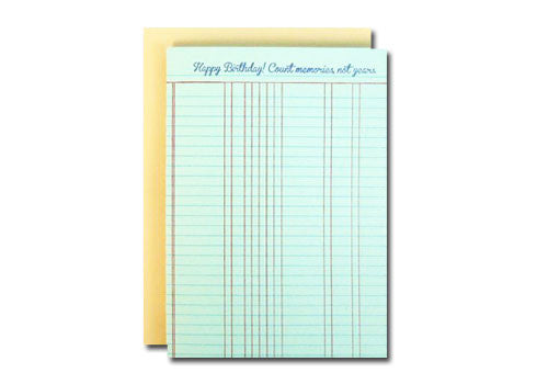 A Favorite Design Happy Birthday Ledger Greeting Card | Room 2046 Toronto Canada
