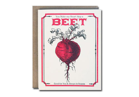 A Favorite Design Vintage Beet Seeds Greeting Card | Room 2046 Toronto Canada