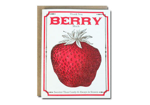A Favorite Design Vintage Berry Seeds Greeting Card | Room 2046 Toronto Canada