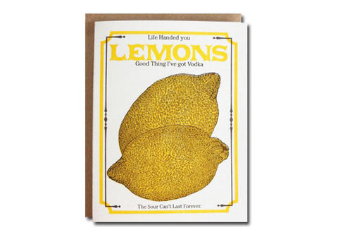 A Favorite Design Vintage Lemon Seeds Greeting Card | Room 2046 Toronto Canada