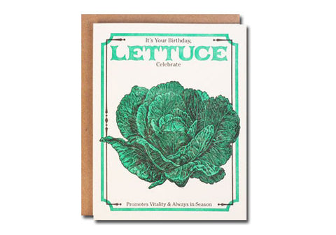 A Favorite Design Vintage Lettuce Seeds Greeting Card | Room 2046 Toronto Canada