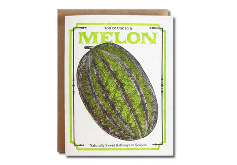 A Favorite Design Vintage Melon Seeds Greeting Card | Room 2046 Toronto Canada
