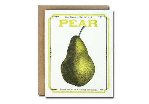 A Favorite Design Vintage Pear Seeds Greeting Card | Room 2046 Toronto Canada