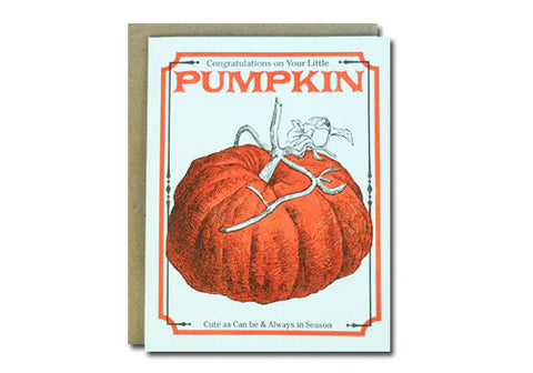 A Favorite Design Vintage Pumpkin Seeds Greeting Card | Room 2046 Toronto Canada
