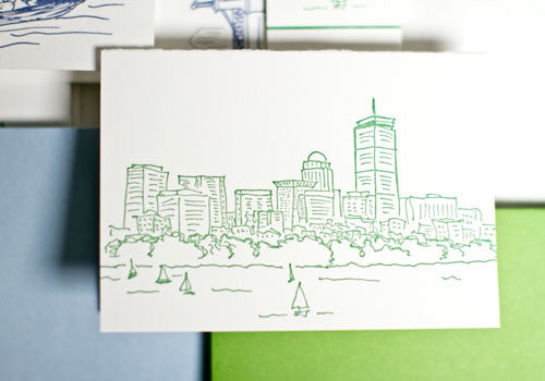 Albertine Press Boston Sketches Letterpress Notecards