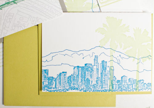 Albertine Press Los Angeles Sketches Letterpress Notecards