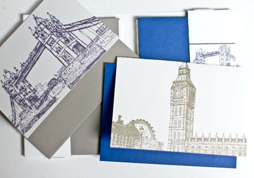 Albertine Press London Sketches Letterpress Notecards | Room 2046 Toronto Canada