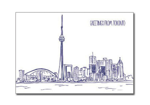 Albertine Press Toronto Letterpress Postcard | Room 2046 Toronto Canada