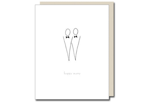 Albertine Press Happy Marry Guys Wedding Card | Room 2046 Toronto Canada
