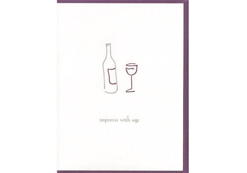 Shop Albertine Press Improves With Age Wine Birthday Card In Room