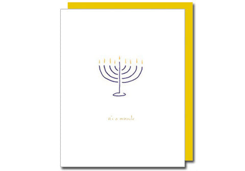 Albertine Press It's a Miracle Hanukkah Card | Room 2046 Toronto Canada