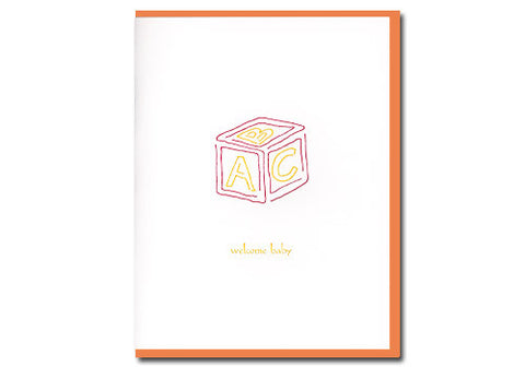 Albertine Press Welcome Baby Card | Room 2046 Toronto Canada