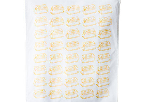 Belle and Union Butter Cotton Screenprinted Tea Towel
