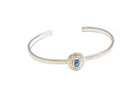 Bauxo Establish Silver Bracelet with Turquoise | Room 2046 Toronto Canada