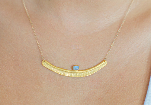 Bauxo Rapture Gold Necklace with Moonstone | Room 2046 Toronto Canada